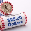 Stock Photo: Metal dollars