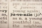 Word juvenile — Stock Photo