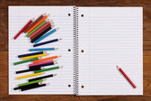 Notebook for records — Stock Photo