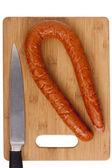 Salsiccia affumicata — Foto Stock