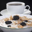 Cereals with blackberry — Stock Photo #4643612