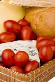 Slice of the Danish blue cheese — Stock Photo