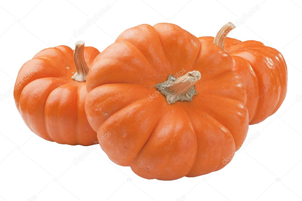 Small orange pumpkins symbolising autumn holidays and used in decorative works. — Stock Photo #4764295