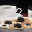 Cereals with blackberry — Stock Photo #4814833