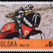 Poland - CIRCA 1967: A stamp - knight - Stock Photo