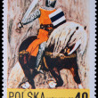 Royalty-Free Stock Photo: Poland - CIRCA 1967: A stamp - knight