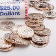 Metal dollars — Stock Photo