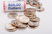 Metal dollars — Stockfoto