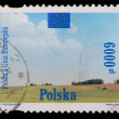 Poland - CIRCA 1994: A stamp - Polska the European Union — Stock Photo