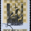 Poland - CIRCA 1974: A stamp - Chess — Stock Photo
