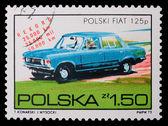 Poland - CIRCA 1973: A stamp - Fiat — Stock Photo