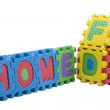 Letters puzzle — Stock Photo
