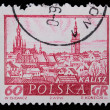 Poland - CIRCA 1965: A stamp - Kalisz — Stock Photo