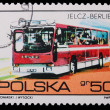 Poland - CIRCA 1973: A stamp - Jelcz-Berliet - Stock Photo