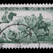 Poland - CIRCA 1966: A stamp - Picture of horses — Stock Photo