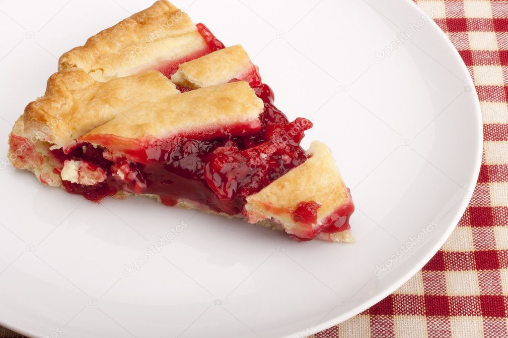 American pie cherry filling - a traditional dessert. — Stock Photo #5326247