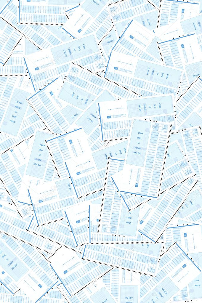 Many scantron tests serving as a background. — Stock Photo #5355104