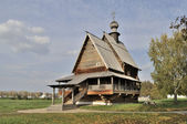Ancient wooden russian church in Suzdal — Stock Photo