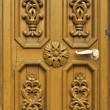 Carved wooden door — Stock Photo #4097586