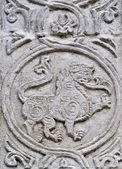 Stone relief in ancient russian church — Stock Photo