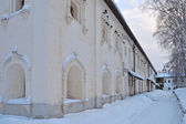 Monastic cells of ancient russian monastery — Stock Photo