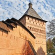 Stock Photo: Wall and tower of old russimonastery