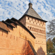 Foto de Stock  : Wall and tower of old russimonastery