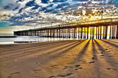 HDR Ventura Pier — Stock Photo