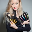 Stock Photo: Blonde with cosmetics;