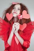 Dreaming crazy girl — Stock Photo