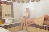 çift türk sauna — Stok fotoğraf