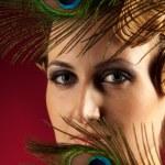 Vertical portrait of elegant woman — Stock Photo
