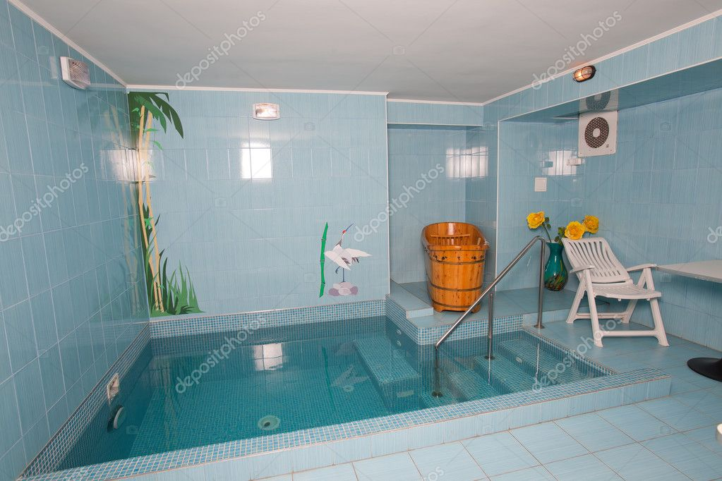 bathroom with small swimming pool stock photo maxanner