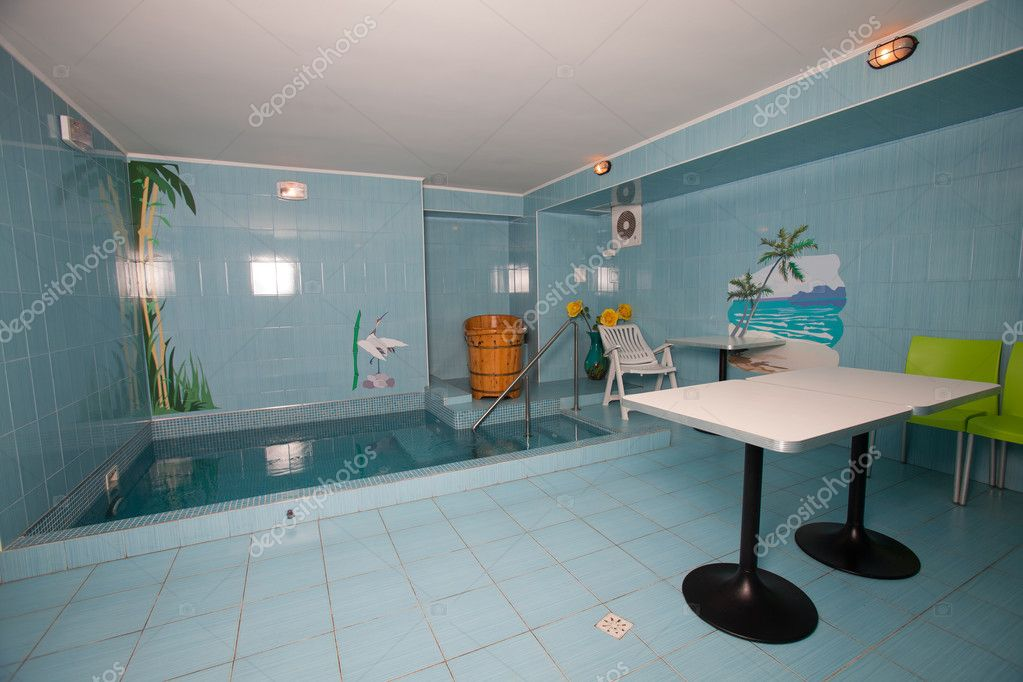 bathroom with swimming pool stock photo maxanner 5045048