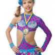 Постер, плакат: Teenage girl gymnast with a medal