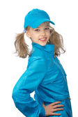 Yong girl in the blue cap — Stock Photo
