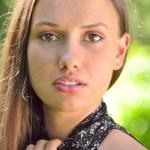 Closeup portrait of a sexy woman — Stock Photo