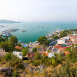 Panoramic view of a sea resort city, Fethiye, Turkey - Stock Photo
