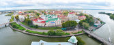 Panoramic view of a Vyborg, Russia — Stock Photo