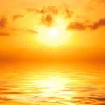 Orange sunset in sea — Stock Photo