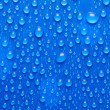 Blue water drops on glass — Stock Photo #4683958