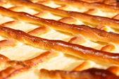 Macro photo of a cheesecake — Stock Photo