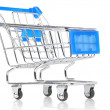 Foto Stock: Closeup of shopping cart