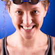 Happy swimmer — Stock Photo