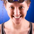 Stock Photo: Happy swimmer