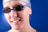 Smiling swimmer — Stockfoto