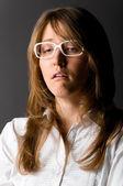 Unhappy businesswoman — Stock Photo
