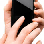 Using modern mobile phone — Stock Photo