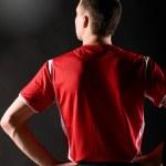 voetbalspeler in donker — Stockfoto #5029789
