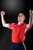 Giocatore di calcio felice — Foto Stock